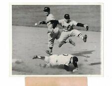 Mickey Mantle Yankees Willie Miranda Orioles 1955 USED AP Press Photo CH12