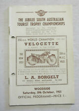 1951 Woodside Road Races Programme Racing Touring Sports Motorcycle Program