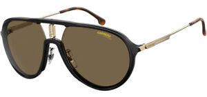 Carrera Polarized Men's Black/Gold-Tone Aviator Sunglasses - CA1026S 02M2 SP