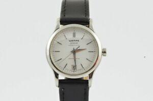 Wempe Zeitmeister Quartz Women's Watch 28MM Steel With Leather Band Vintage