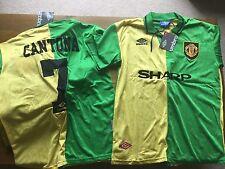 Manchester united man united newton heath 92-94 cantona 7 vert & jaune rétro