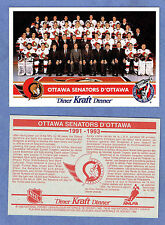 1992-93 Kraft Dinner (Canada) Ottawa Senators Factory Redemption Postcard