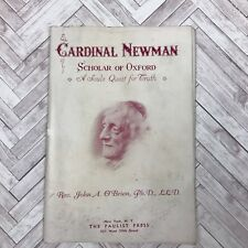 Vintage Catholic Booklet 1937 Cardinal Newman Scholar Of Oxford Priest Estate