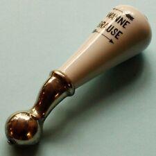 WANNE => BRAUSE = Antiker Hebel von Armatur um 1915 TOP Porzellan Messing Nickel