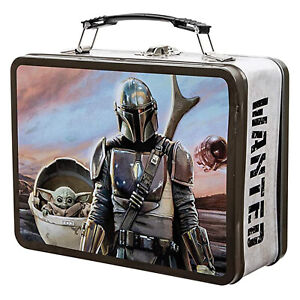 Bioworld Star Wars Mandalorian The Child Large Metal Lunchbox Tin NEW IN STOCK