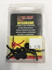 Pine Ridge Archery Wishbone String and Cable Dampener 4-Pack Black 2725-Bk