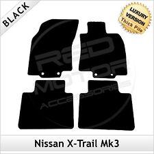NISSAN X-TRAIL mk3 2014 in Poi Su Misura ESCLUSIVO Tappetini per auto 1300g Nero
