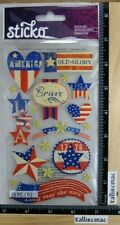 Sticko STARS AND STRIPES Stickers USA OLD GLORY LONG MAY SHE WAVE