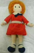 "Vintage c.1982 Knickerbocker Little Orphan Annie & Sandy 16"" Cloth Rag Doll"