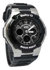 Casio BGA110-1B2 Baby-G Chaton Black Ana Digi Dial Resin Band Women Watch NEW