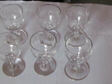 6 STEMMED FLUTED LIQUOR GLASSES