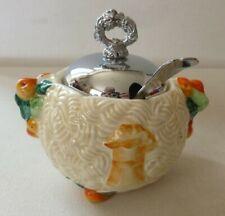 More details for clarice cliff newport street pottery celtic harvest pattern lidded sugar bowl
