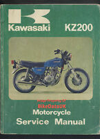Kawasaki Z200 (1977-1979) Genuine Factory Work-Shop Manual Book KZ Z 200 A BV12