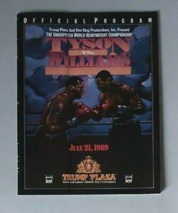 1989 - Mike Tyson v Carl Williams, World Heavyweight Title Programme