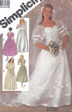 Vintage 1980's Bridal Wedding Gown Train & Bridesmaid Dress Sewing Pattern UNCUT