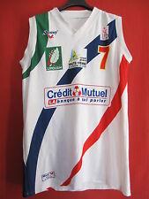 Camiseta De Baloncesto Coro Roanne femenino Usado No. 7 Awa Gueye LFB - XL