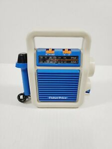 Vintage 1984 Fisher Price My First FM Sing-A-Long Radio With Microphone