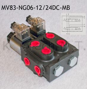 Hydraulik Magnetventil 8/3-Wegeventil NG06 12V DC Monoblock - inkl. Stecker
