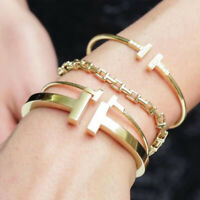 Luxury Women Stainless Steel T Wire Cuff Bangle & Love Bracelet Fashion Jewelry