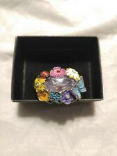 """""""Textured Flowers"""" Double Ring by AVON Size Medium 7-8 NEW"""