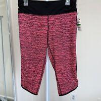 Material Girl Active Women's crop leggings NWT Multi color Juniors Size L Pink