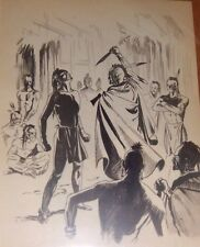 """D'ADDERIO ORIGINAL ART PAGE ILLUSTRATION """"THE LAST OF THE MOHICANS"""" ARGENTINA 50"""