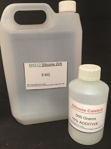 RTV Mould Making Rubber 4512  20A Condensation Cure Silicone 5.5Kg Kit