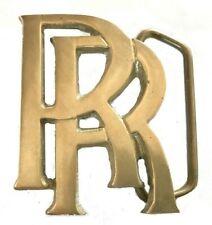 Vtg Rolls Royce Belt Buckle Vintage Auto Logo Show Parts Gear Mens Gift Idea