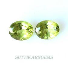 2 Pcs 5.18 Ct Natural Green Peridot Oval Cut 8x10 MM Loose Gemstone Lot