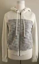 Abercrombie & Fitch Women's Color Block White & Heather Gray Hoodie Size M