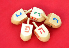 1 DREIDEL - - - - - Wood Draidel, Jewish gift Spinning top Chanukah Judaica play