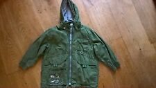 Designer Oilily Unusual Funky Khaki Green Detachable Hooded Coat Age 6 116 cm