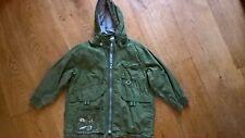 Designer Oilily Unusual Funky Khaki Green Detachable Hooded Coat Age 6 116 cm