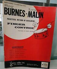 1958 Roy Burnes & Lewis Malin ~ Practical Method Developing FINGER CONTROL Drum