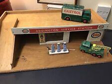 Vintage Antique Toy Garage And Vintage Toy Cars.