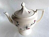 """Vintage ~ Porcelain Lidded Tea Pot ~ PINE CONE Pattern ~ 5"""" x 5"""" ~ 4 Cup"""
