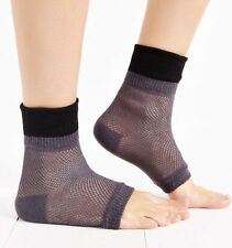 NWT Urban Outfitters Colorblock Mesh Open Toe Socks Yoga Black Gray Anklet UO