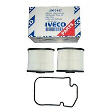 C911X-2 New Genuine IVECO Filter kit, Crankcase Breather (2 pieces)