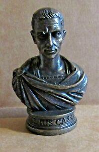 ORNAMENT JULIUS CAESAR RESIN MODEL BRONZED BUST ROMAN DICTATOR GENERAL