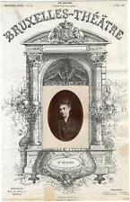 Damry Walter, Bruxelles-Théâtre, Marie Delaporte (1838-1910), actrice Vintage al