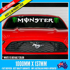 Monster Windshield (2 color) JDM racing wheels vinyl Decal Stickers