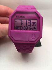 Nixon A169 698 Men's Rubber Rhodo Purple Silicone Watch A169-698 RE-RUN