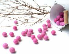 1cm PINK Felt Balls x50.Wool.Party Decor.Pom poms.Felt Ball.Wholesale.