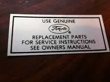 1957 - 1964 FORD FAIRLANE SUNLINER GALAXIE RANCHERO USE FORD AIR CLEANER DECAL S