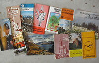 Lot of Vintage 1960s Europe Travel Booklets and Maps #3 LOOK