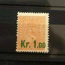 stamp Norge Norway Nk85 I * Short Perforation Norwegen