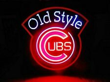 "Chicago Cubs Old style Beer Neon Lamp Sign 20""x16"" Bar Light Windows Display"
