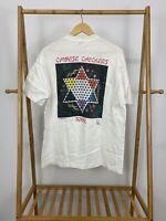 RARE VTG De Collard Peoples 1992 Chinese Checkers Tour White T-Shirt Size XL USA