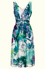 Long Tall Sally Watercolour Floral Dress. Occasion Wedding Party. Size UK 14