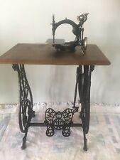 Antique Wilcox & Gibb Sewing Machine on ornate Bench,Stunning conversation piece
